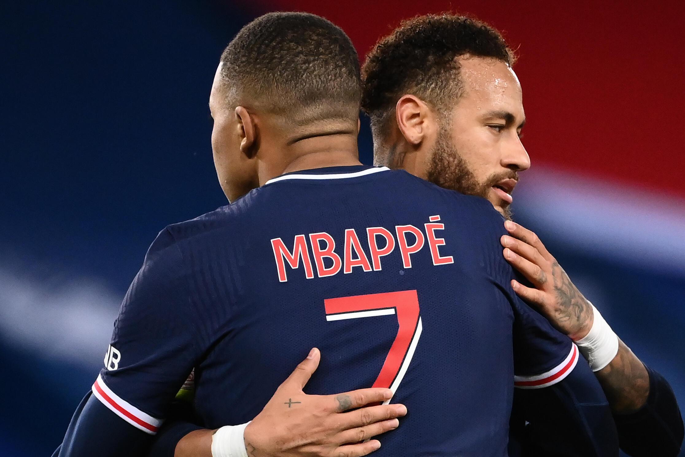 Les attaquants du PSG Kylian Mbappé et Neymar contre Dijon, le 24 octobre 2020 au Parc des Princes