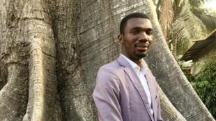 L'Ivoirien Kevin Sesse, lauréat du prix RFI Challenge App Afrique 2019, mardi 10 décembre à Dakar.