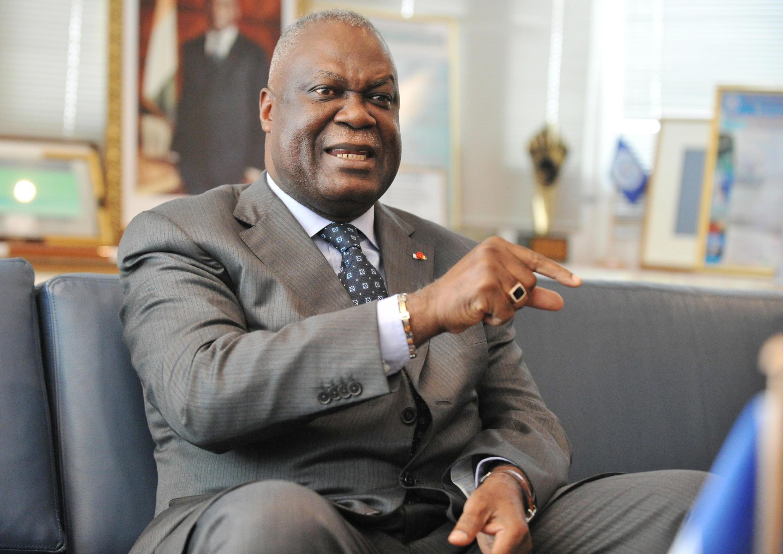 Marcel Gossio, directeur général du Port d'Abidjan, candidat du FPI aux législatives ivoiriennes. (Ici) lors d'une interview le 19 janvier 2011.