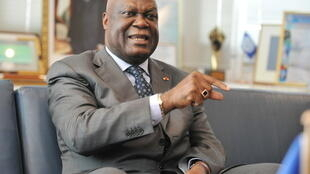 Marcel Gossio, lors d'une interview le 19 janvier 2011, alors qu'il était directeur général du Port d'Abidjan. .