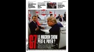Capa do jornal Libération desta segunda-feira (26) destaca as ações do presidente Emmanuel Macron durante o G7 de Biarritz, no sudoeste da França.