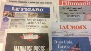 Primeiras páginas dos jornais franceses de 23 de agosto de 2018