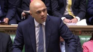 英国财务大臣贾伟德Sajid Javid2019年9月4日伦敦