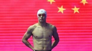Sun Yang photographié en juillet 2019 lors des championats du monde de natation en Corée du Sud.