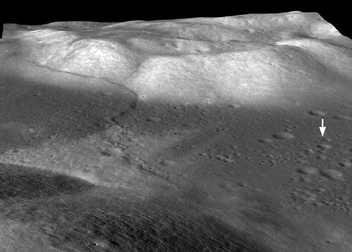 Photo haute définition des modifications de la lune, prise par la sonde américaine LRO.