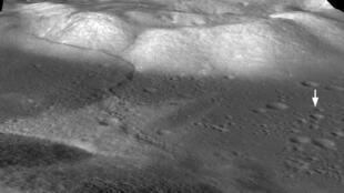 月球表面上的變化
