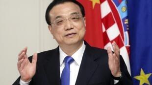 Li Keqiang, le Premier ministre chinois, en Croatie, le 10 avril 2019.