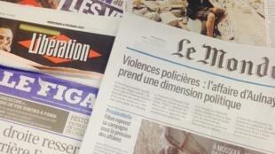 Capas dos diários franceses 08/02/2017