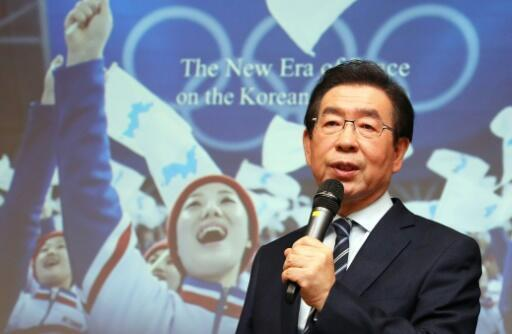 El alcalde de Seúl Park Won-soon, el 11 de febrero de 2019. Foto de archivo.