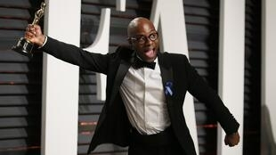 Barry Jenkins, director of the winning Best Picture 'Moonlight'  at the 2017 Academy Awards with his 'Oscar' statue