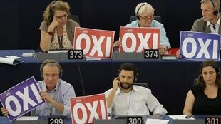 """MEPs show support for Greece's """"no"""" to austerity this week"""