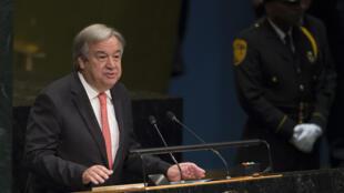 Ông Antonio Guterres phát biểu trước Đại Hội Đồng Liên Hiệp Quốc. Ảnh tháng 10/2016.
