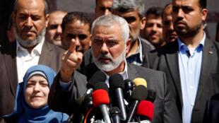O chefe do Hamas, Ismael Haniyeh, em foto de arquivo.