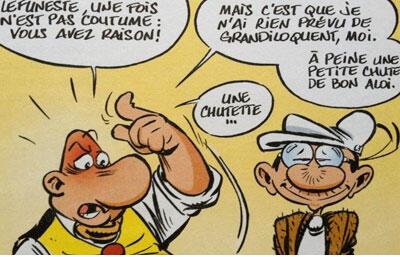 Achille Talon et Lefuneste, personnages de Greg.