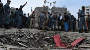 Ataque suicida Talibã no edifício do parlamento afegão em Cabul, em junho de 2015.
