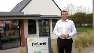 Stephane Lozachmeur, Président de Polaris, devant ses bureaux à Pléven (Finistère)