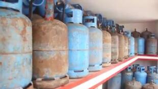 Des bouteilles de gaz butane à Pointe noire, au Congo-Brazzaville. (Image d'illustration)
