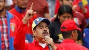 Le président du Venezuela, Nicolas Maduro, samedi 2 février 2019, à Caracas.