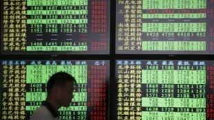 Thượng Hải, ngày thứ sáu, 03/07/2015, chứng khoán đồng loạt sụt giá.