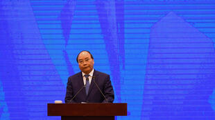 Vietnamese Prime Minister Nguyen Xuan Phuc at an Apec conference in 2017