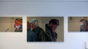Œuvres de Atef Maatallah, présentées dans le cadre de l'exposition « Effervescence » à l'Institut des cultures d'islam (ICI).