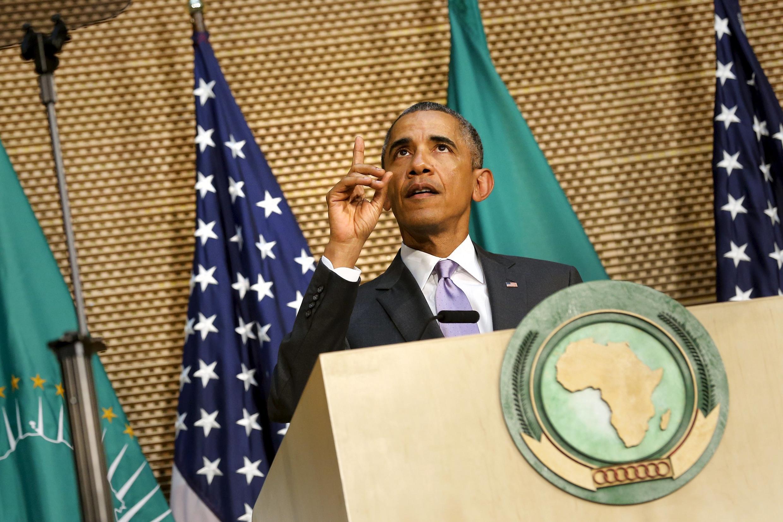 Barack Obama discursa na União Africana