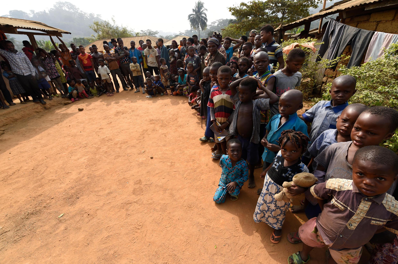 Des réfugiés camerounais, ici à Bashu-Okpambe, dans l'Etat de Cross Rivers, au sud-est Nigeria, le 31 janvier 2018.