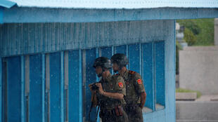 三八線的朝鮮士兵2016年7月27日