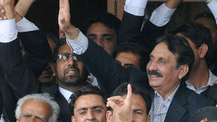 Chief Justice Iftikhar Chaudhry after being freed from house arrest under Musharraf's rule in 2009