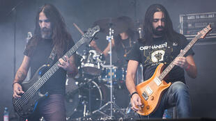 Heavy metal band Orphaned Land at the 'In Extremo aniversary - 20 Wahre Jahre' (2015)