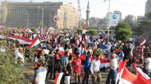 Toute la journée de mercredi 3 juillet, les anti-Morsi ont défilé place Tahrir, au Caire.