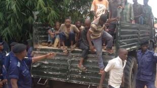Des ex-miliciens présumés ici à leur arrivée à Kananga (photo d'illustration).