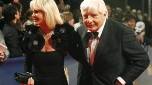 Gunter Sachs and his wife Mirja arriving on the red carpet