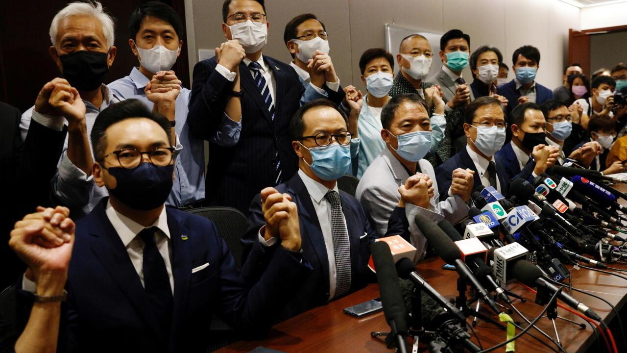 11月11日的香港立法会泛民主议员