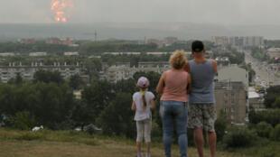 Взрывы на складе боеприпасов вблизи Ачинска 5 августа 2019