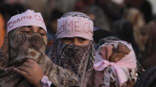 Partisans du leader religieux Tahir ul-Qadri, le 16 janvier à Islamabad.
