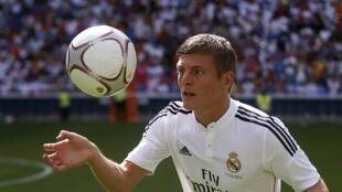 Toni Kroos quitte le Bayern Munich pour le Real Madrid. Ici à Madrid, le 17 juillet 2014.