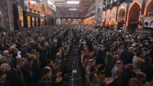 Musulmanes  chiítas en Kerbala  diciembre 2009.
