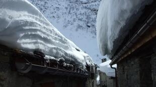 Haveu snow has hit French mountain regions this weekend