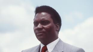 Le président Juvénal Habyarimana en 1982.