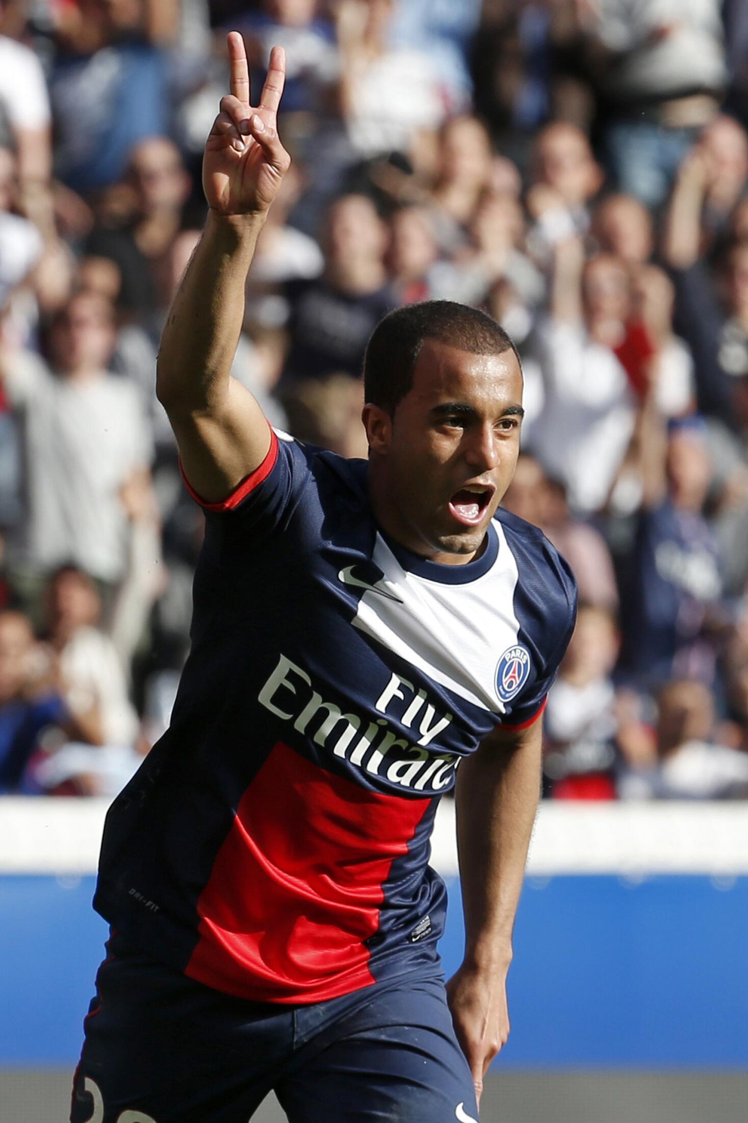Lucas Moura, avançado brasileiro do Paris Saint-Germain.
