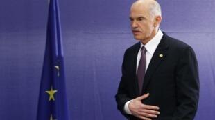 Le Premier ministre grec Georges Papandreou.