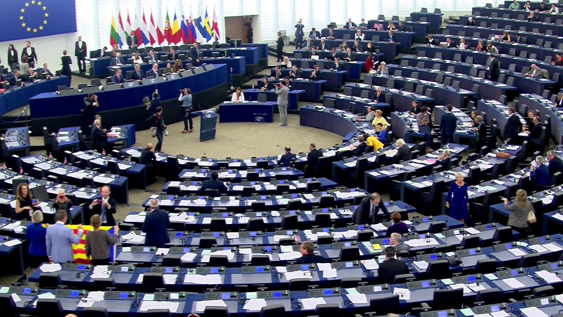 Nghị Viện Châu Âu, tại Strasbourg (Pháp), thảo luận về tình hình Catalunya, 0410/2017.