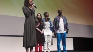 Từ trái sang phải: Đạo diễn Annie Sylverstein, và các diễn viên Amber Havard (vai Kris), Yolonda Ross, Rob Morgan (Abe) tại buổi chiếu trong hạng mục Un certain regard, LHP Cannes, 15/05/2019.