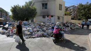 Une rue de Beyrouth.