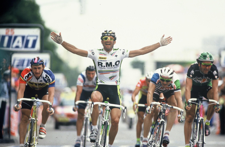 Mauro Ribeiro no Tour de France de 1991.