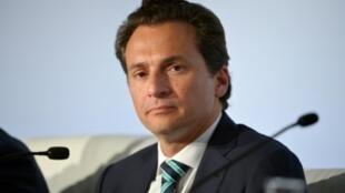 El exdirector de la estatal Petróleos Mexicanos (Pemex), Emilio Lozoya, durante una rueda de prensa celebrada el 16 de octubre de 2015 en París