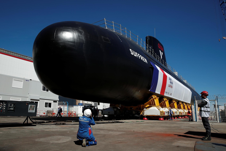 Tàu ngầm Suffren. Ảnh chụp ngày 5/7/2019 tại Cherbourg.