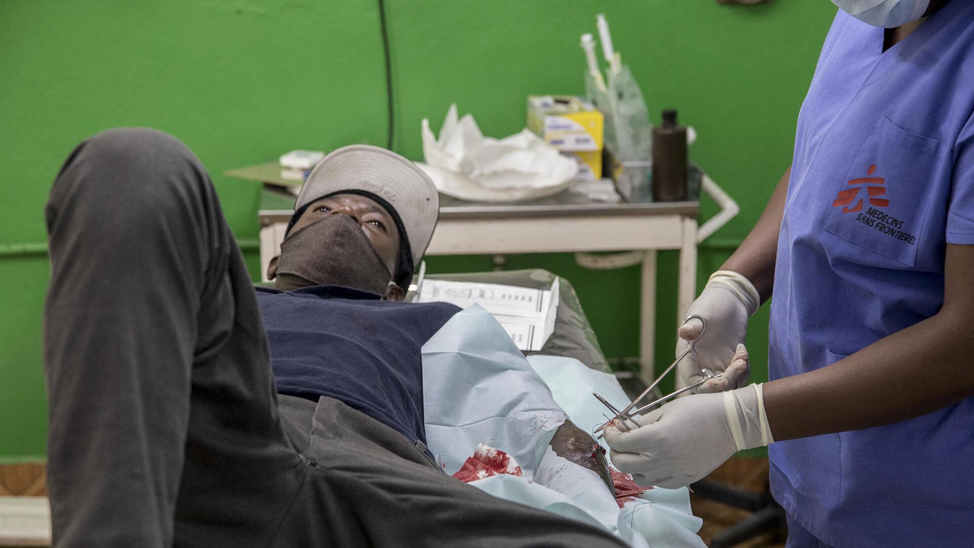 Haiti - Hôpital de Martissant - MSF _000_9B77PU - AFP