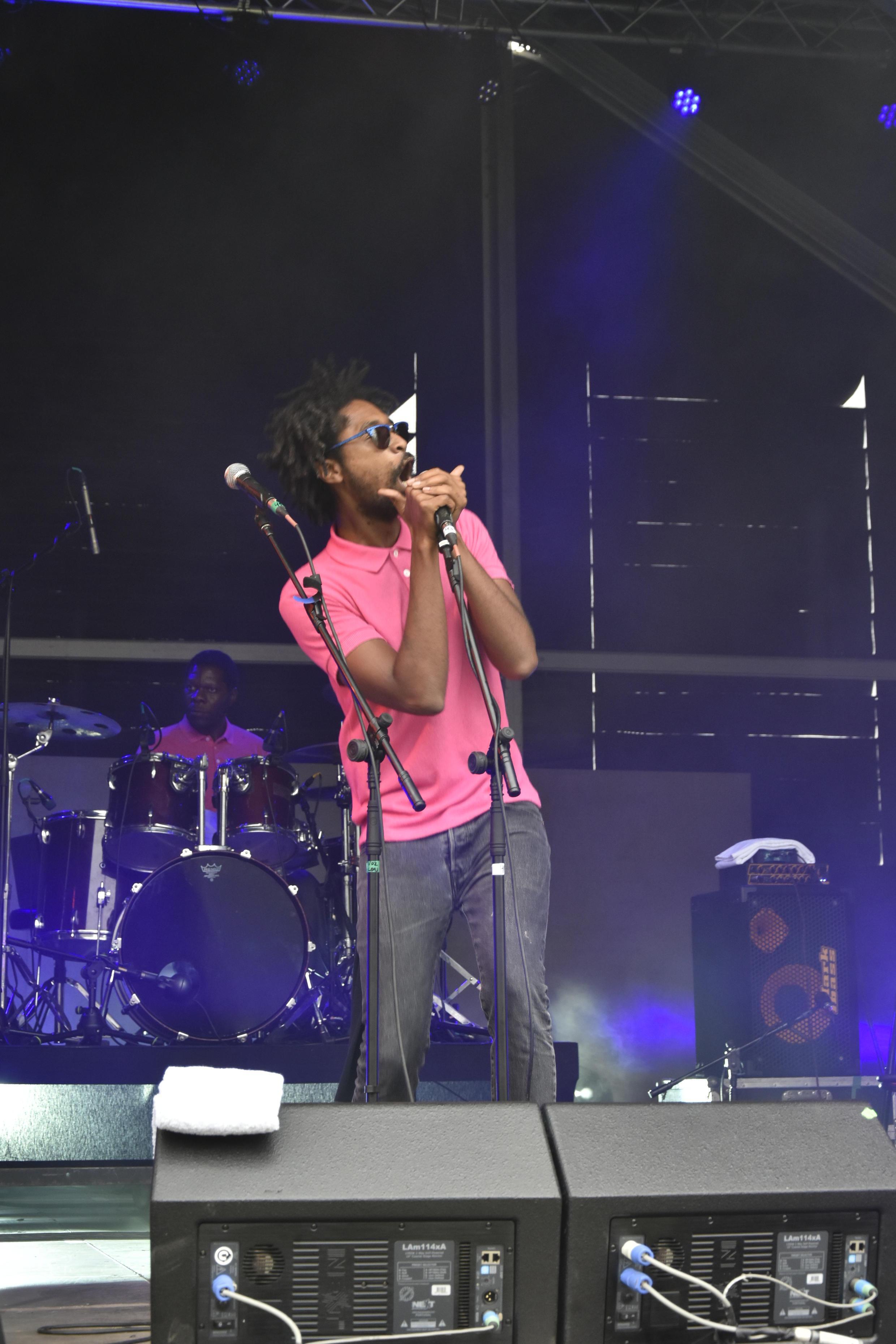 Artista angolano Nástio-Mosquito no concerto Rock in Rio 2018